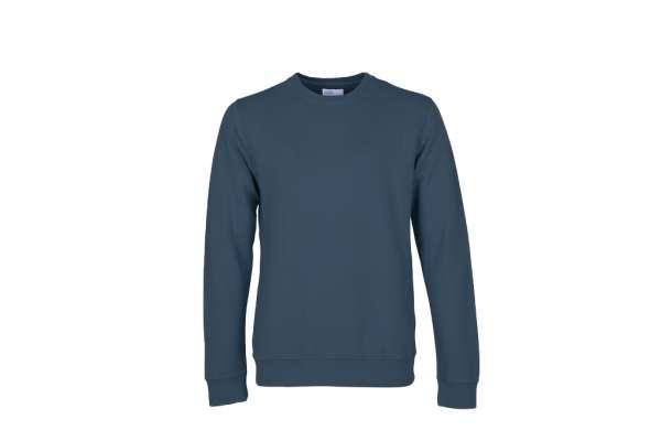 COLORFUL STANDARD CLASSIC ORGANIC CREW - PETROL BLUE