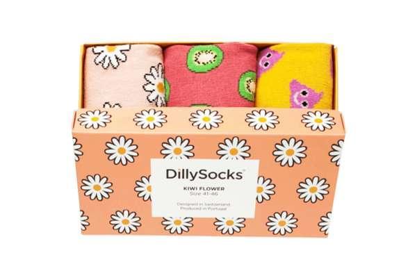 DillySocks Kiwi Flower 3-er Pack