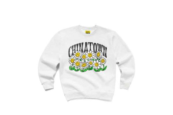Chinatown Market Smiley Flower Power Crewneck