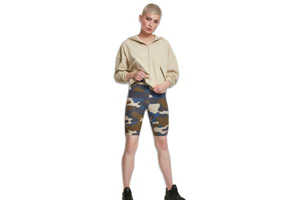 High Waist Camo Tech Cycle Shorts Wmns
