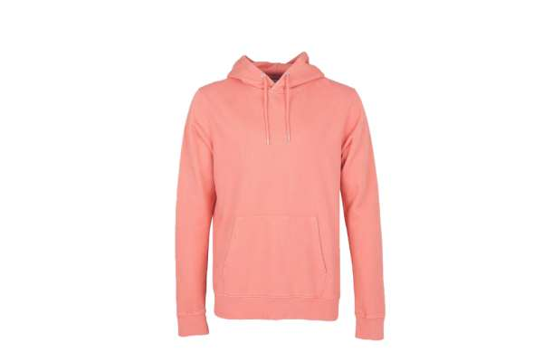 COLORFUL STANDARD CLASSIC ORGANIC HOOD - BRIGHT CORAL
