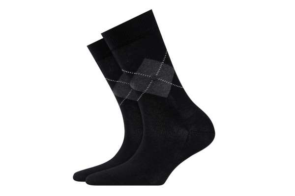 Burlington Black Argyle Damen Socken