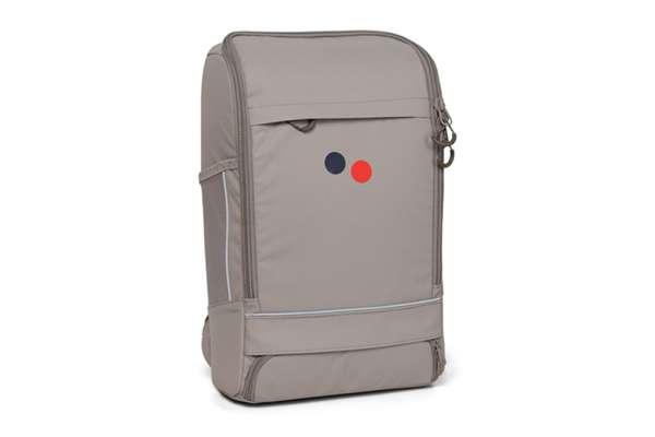 pinqponq Cubik Medium Backpack Cement Taupe