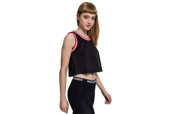 Cropped Mesh Top Wmns